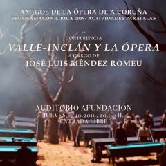 José Luis Méndez descubre las conexiones de Valle-Inclán y la ópera