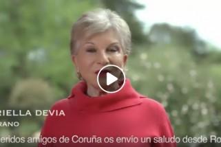 Mariella Devia nos saluda desde Roma